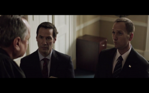 """Jim and Keanu Reeves in """"The Whole Truth"""""""